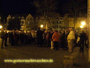 Greiz Vogtland Nachtwächter Stadtführung Stadtrundfahrt Nachtwanderung