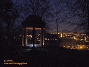 Greiz Vogtland Nachtwächter Stadtführung Stadtrundfahrt Nachtwanderung Gasparinentempel