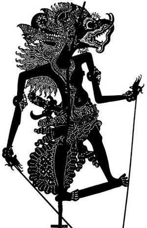 Raja Mina Lodre, der Herrscher der See, wayang Sasak.