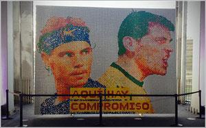 Mosaico de Rafa Nadal e Iker Casillas. Tomado de http://www.microsiervos.com/archivo/puzzles-y-rubik/record-mosaico-rubik.html