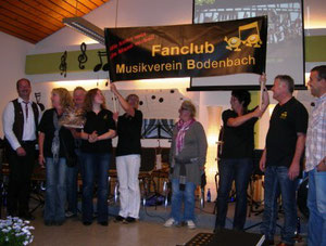 Fan-Club gratuliert mit neuem Transparent