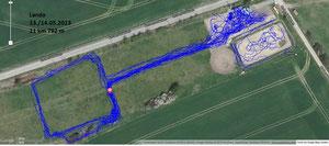 GPS Messung Lando - Paddock Trail Lieskau