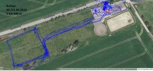 GPS Messung Bolivar