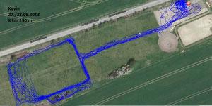 GPS Messung Kevin - Paddock Trail Lieskau