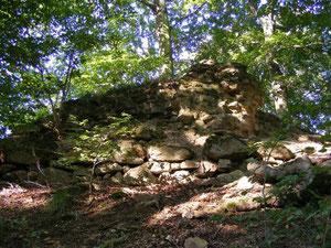 Reste der Burg Jossa