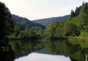 Der Eutersee ist einer der kältesten Seen Deutschlands