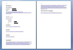 Word Dokument mit den Links der Webseiten die ich über meine Aufgaben, im bezug des Webseiten schreibens benutzt habe bzw. darauf zurück gegriffen habe.
