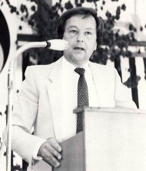 Der erste Vorstand des TCB: Klaus Lang