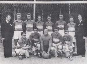 1. Mannschaft bei Sportplatzeinweihung 1954