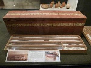 Ataúd de Iqer en una sala del Museo de Luxor (Egipto).© Foto: US
