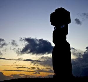 Un moai de la Isla de Pascua.  © Foto: Valentí Rull