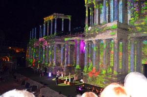 Teatro romano de Mérida en los premios Ceres de 2013. ©Lupe Rangel