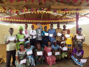 Group photo certificate presentation