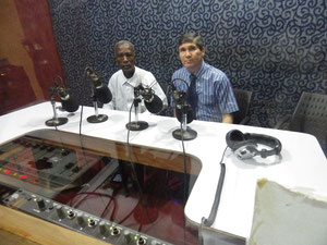 In the Radio Studio recording a live session