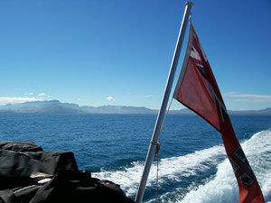 Island hopping by boat