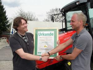 Auszeichnung Landwirt com