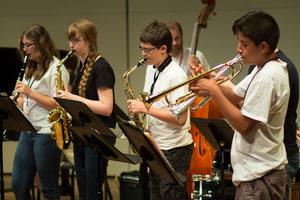 """Oliver Nelson Combo"" in rehearsal with coach, Miles Brown"