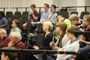 Students in rapt attention in Jazz Composition Class