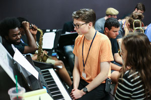 Instructor Brown working with The Oliver Nelson Combo