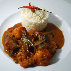 Rotes Garnelencurry