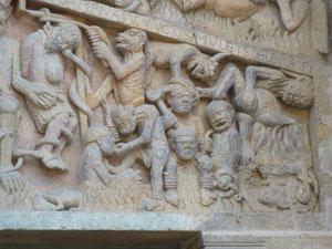 Conques, Portal von Sainte Foy, Ausschnitt aus der Hölle
