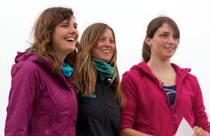 Damen Team für die EM 2014, von links: Sandra Sebelin, ich und Andrea Kaspers