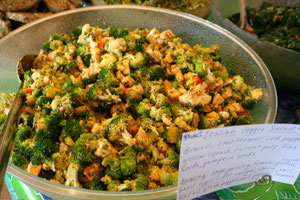 Squash and Broccoli Salad with an Italian Herb Dressing