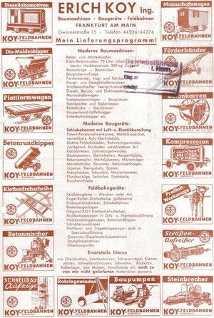 Werbeblatt: Koy