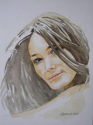 aquarelle de Carla Bruni