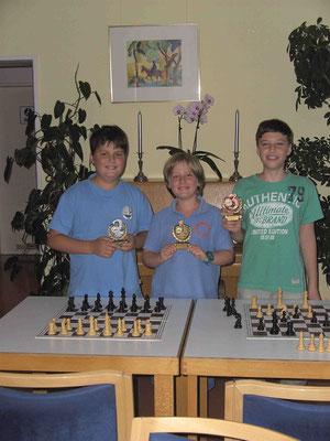 Das Podium der Jugendstadtmeisterschaft 2012