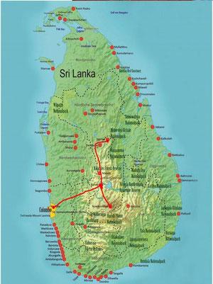 Sri Lanka Kurz-Rundreise Kultur Cocktail 4 Nächte im Kleinbus