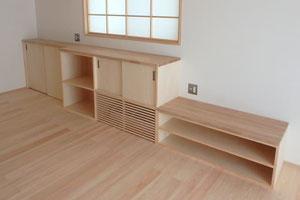 リビング造作家具の写真
