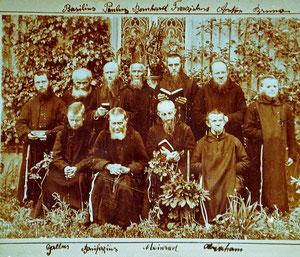 Luthern Bad, Gruppenfoto Waldbrüder-Mönche um 1898