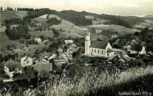 Luthern Dorf (Luz.) 778 m, Postkarte, Foto Hugo Kopp Zürich, ohne Poststempel, um 1950  (LD 18)