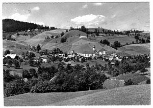 Luthern Dorf, Sicht vom Luegisdorf, Feldpost, plus Stempel Pieterlen 30.4.1960  (LD 24)