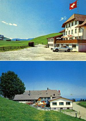 Luthern, Bergrestaurant Ahorn-Alp, Farbaufnahme und Hotelwerbung E. Zimi Emmenbrücke, Stempel Eriswil 17.9.1976