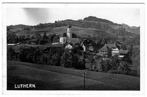 Luthern Dorf , Postkarte Ansicht von Längmatt, Poststempel Luthern 26. 7.1931  (LD 12)