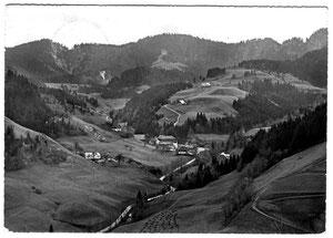 Luthern Bad mit Napf, Sicht vom Humbel, Poststempel Luthern Bad 4.8.1959  (LB 22)