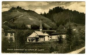 Luthern Bad, Postkarte Kurort Luthernbad ob Luthern Kt. LuzernFoto Globetrotter A.G. Luzern, Poststempel Luthern 21.11.1927  (LB 11)
