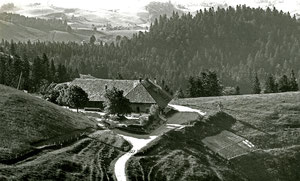 Luthern, Bergwirtschaft Ahorn-Alp, Fam. H. Röhtlisberger, Tel. 063 4 61 36, Postkarte Fliegeraufnahme B. Bachmann Bern, Poststempel Riggisberg 20.7.1962