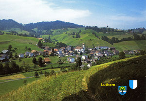 Luthern Dorf, Postkarte 1983, Verlag Photoglob AG Zürich  (LD 30)