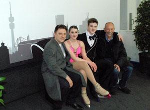 Trainer V. Schulz, Kathi, Sevan, Trainer J.Young bei der NRW-Trophy 2013