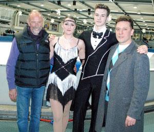 Erfolgreiches Quartett: Jimmy Young, Kathi, Sevan, Vitali Schulz