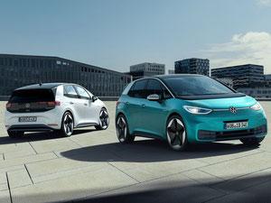 ID.3 mit kompakten Überhängen und langer Radstand (Bild: Volkswagen)