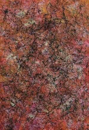 Hinter der Komfortzone, 2013, Acryl auf Leinwand, 100 x 70 cm © Horn