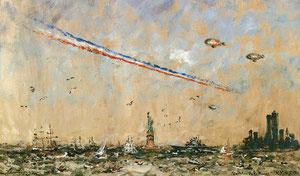«4 juillet 1986, la Patrouille de France passe» 1986, 33x55cm, MNA69