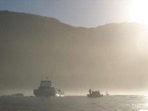ラッコはカリフォルニア・ビッグサーのような牧歌的な日の当たる、陸と海の境目の環境に暮らす。人間もまた同じ海を享受している。 Image: Ben Young Landis/USGS