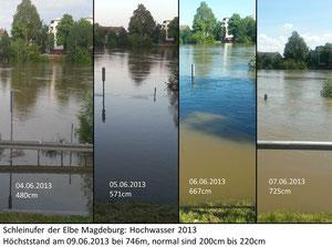 Unfassbare Ausmaße der Flut in Magdeburg - Foto: J.Froese
