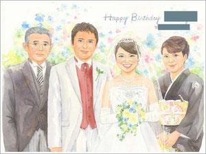 似顔絵 結婚式