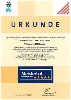 Wir haben es - das 5-Sterne Siegel der Deutschen Bauwirtschaft